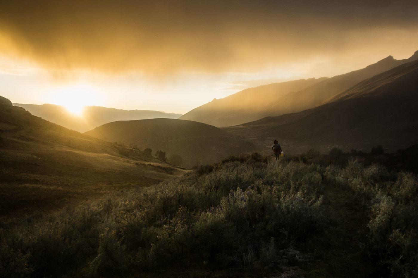 Stimmungsvolles Bild in den Bergen Perus.